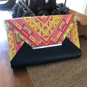 Authentic - Pineda Covalin - Silk & Leather Clutch